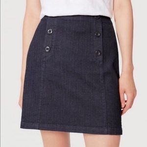 Ann Taylor Loft Petite Denim Sailor Skirt